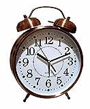 Unbekannt XXL Retro Glocken Wecker Uhr Glockenwecker Doppelglockenwecker Quartzwecker (Kupfer) Laut