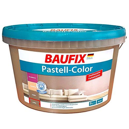 Baufix Farbe braun Trüffel Matt Innenfarbe Wand Wandfarbe Dispersions-Innenfarbe 5 Liter