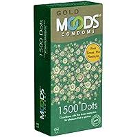 MOODS GOLD 1500 Dots Condoms - 12 Kondome mit 1500 Noppen preisvergleich bei billige-tabletten.eu