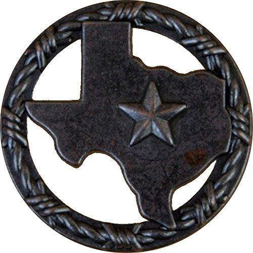 Set von 24Texas mit Ring aus Ring Lone Star Schublade Schrank Pull Southwest Rustikal Texas (Star Schublade Ziehen)