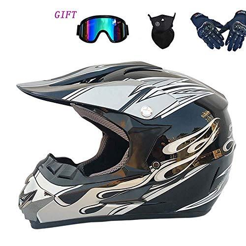 CC-helmet Offroad-Motorradhelm, MX-Motorrad-ATV-Geländehelm, Herren- und Damenbrille, Maske,...