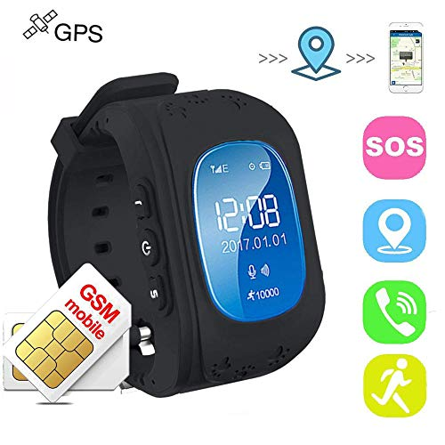 Bambini Smart watch,GPS Tracker Orologio da polso Impermeabile Kids Call Chiamate SIM/GPRS Tracking in Tempo Reale SOS...