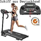 IRENO Laufband Elektrisches Klappbar Fitnessgerät Heimtrainer verstaubar kompakt mit LCD-Display...