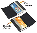 #5: Farraige Latest Professional Double Side Leather Cum Metal Visiting And Credit Card Case For Men And Women - Black