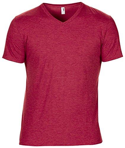 Anvil Adult Tri Mischung mit V-Ausschnitt T-Shirt - 5 Farben / Sml - 2XL White