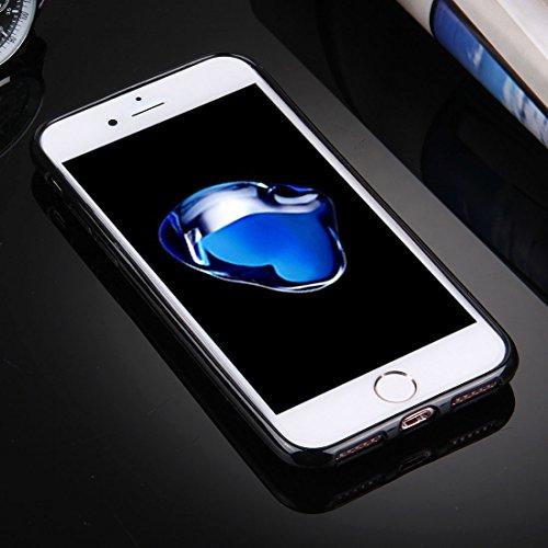 BING Für iPhone 7 Plus Flash Powder Twinkling NightSky Moon Pattern Soft TPU Schutzhülle BING ( SKU : Ip7p3112a ) Ip7p3112a