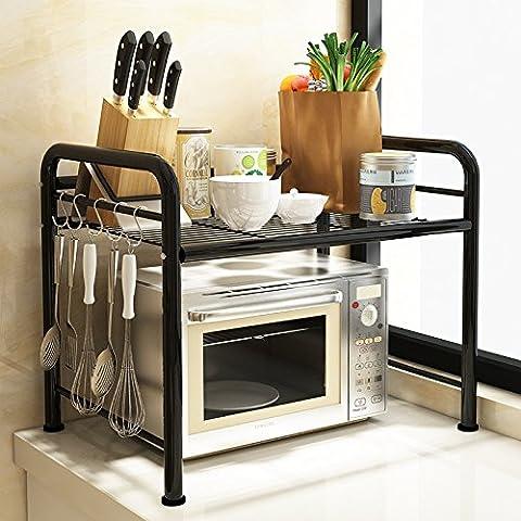 ZLL Piano griglie del forno, cucina rack, cremagliere del pot, Rack multistrato in acciaio inox, scaffali, scaffale , 55cm black