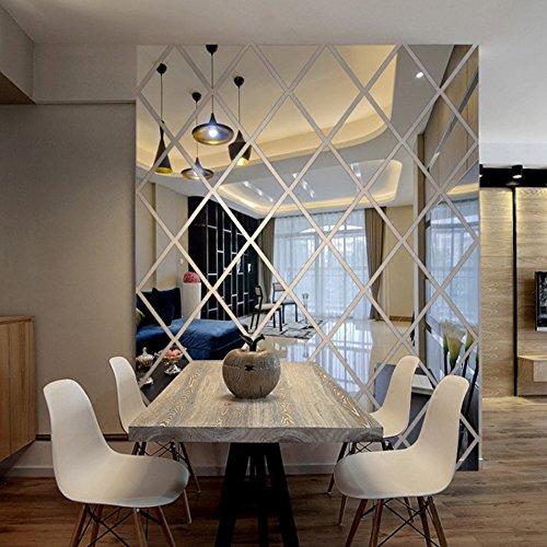 XSLZN Wandaufkleber (Drei Sätze) Diamanten Dreiecke Wandkunst Acryl Spiegel Wandaufkleber Haus Dekoration Wandtattoos Kunst Für Wohnzimmer Wohnkultur - Chanel Diamant
