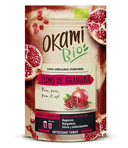 Zumo de granada en polvo 100% orgánica 150gr | 100% orgánico, vegano y sin gluten | Super alimento repleto de antioxidantes.