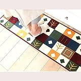 sheng Indeedshare Kitchen Rugs Rubber Backing Decorative Non-Slip Doormat Runner Area Entrance Mats Sets 3 Pieces ( Color : 1 Pcs )