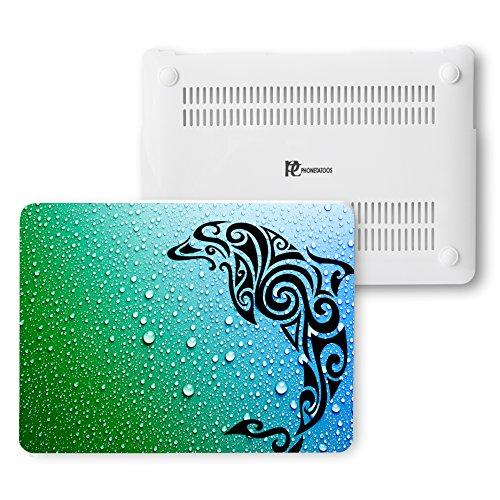 MacBook Air 13Fall, Kunststoff Hard Shell Snap On Schutzhülle für MacBook Air 33cm (A1466& A1369) 13 Inches Tribal Dolphin in Water (13 Speck Fällen, Air Den Macbook In In)