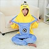 MH-RITA Le donne per Unicorn pigiami imposta alle donne di flanella pigiami animale kit per Sleepwear notte invernale-vestito impostare pigiama,Minion blu giallo,S