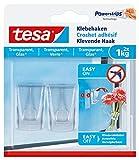 tesa® Klebehaken, transparent für z.B. Glas, 1 kg Halteleistung