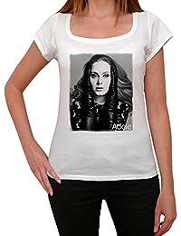 Adele Laurie Blue Adkins, tee shirt femme, imprimé célébrité, Blanc, t shirt femme,cadeau