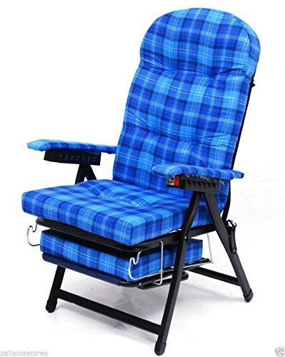 Sedia poltrona sdraio mod Karina cotone schienale regolabile con piedino 35x20mm
