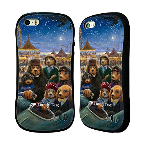 Ufficiale Lonely Dog Houndside Natale Case Ibrida per Apple iPhone 6 Plus / 6s Plus Una Notte Al Carnevale