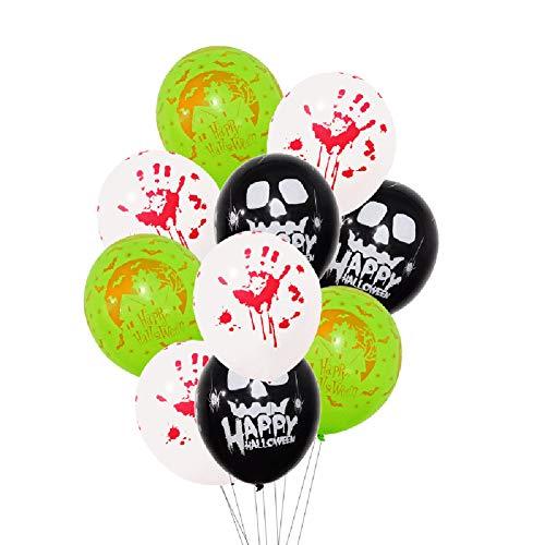12 Zoll Halloween Partei Ballons Naturlatex Spinnennetz Web und Blutige Hand Bedruckte Luftballons Für Halloween-Trick Oder Behandeln Beängstigende Party-Spaß 50 Stück,Style1 (Halloween-party Trick Behandeln Oder)