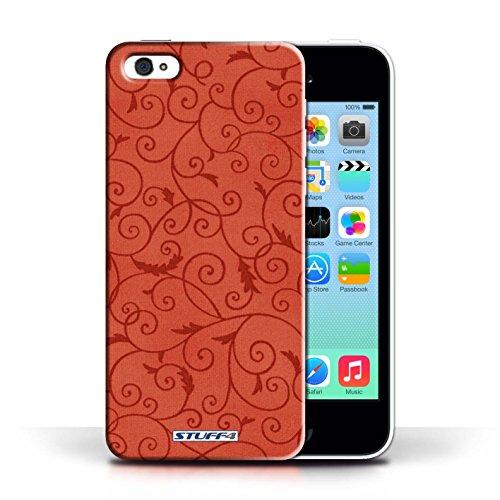 Kobalt® Imprimé Etui / Coque pour Apple iPhone 5C / Vert conception / Série Motif de la vigne Rouge