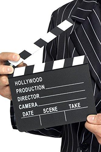 (Smiffys Hollywood Style Klappe, 17,5cm x 20cm, Schwarz, 94033)