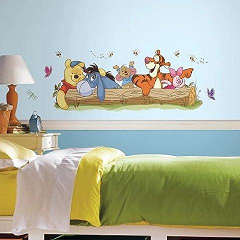 Hochwertiger Wandtattoo Tattoo Wand Tattoo - Winnie the Pooh - Tigger - I-Ah - Esel - Baumstamm - künstlerisch mit außergewöhnlichem Design macht die Wand zu einen echten Blickfang