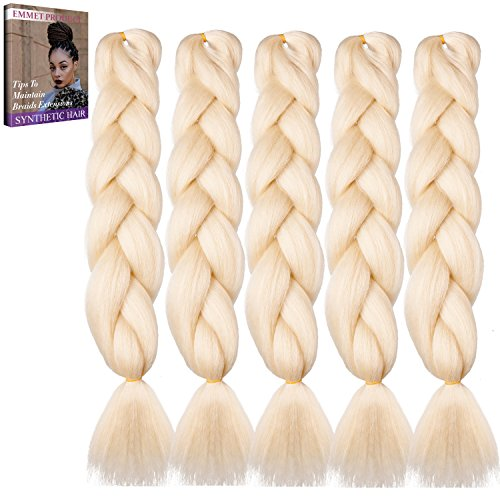 Emmet Erstklassige Qualitäts-Kasten-Jumbo-Gefäße 100% Kanekalon-Flechten Haar-Verlängerung 24Inch Volles Synthetisches Hitzebeständiges Haar Ombre 2Ton u.3Ton 5pcs/lot, mit Haar-Sorgfalt (Einfach Emmet Kostüm)