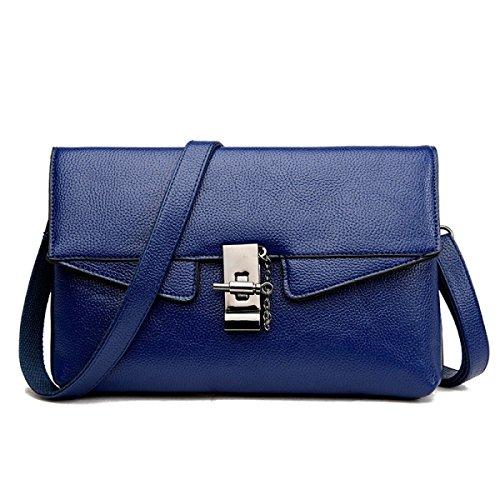ZPFME Frauen Handtasche Mode Umschlag Tasche Elegant Party Retro Damen Verbot Mode Damen Tasche Handtasche,Blue-OneSize -
