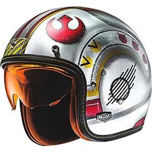 F7XWXS - HJC FG-70S X-Wing Fighter Pilot Open Face Motorcycle Helmet XS