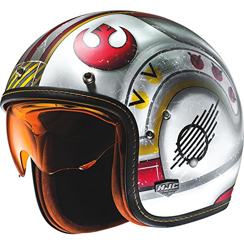 HJC FG-70S X-Wing Fighter Pilot Open Face Motorcycle Helmet (Fighter Jet Helm)