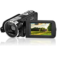 "Video Camera Camcorder, CamKing HDV-312 24MP HD 1080P  Digital Video Camera 16X Digital Zoom Camera with 3.0"" LCD and 270 Degree Rotation Screen"