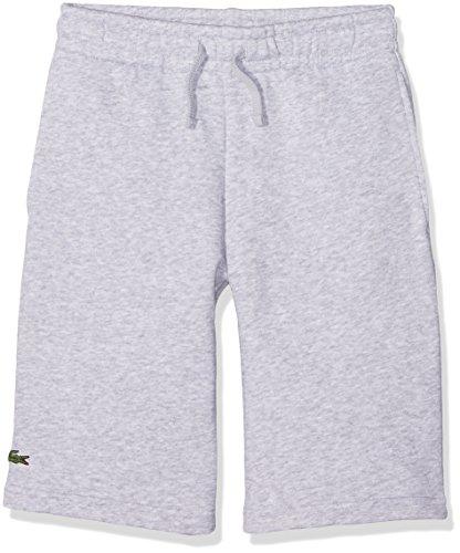 Lacoste Sport GJ0237 Pantalones Cortos de Deporte, Gris (Argent Chine), 10 años (Talla del Fabricante: 10A) para Niños