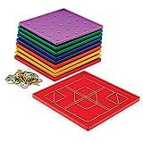 Learning Resources Plateau Géométrique de 5 x 5 Chevilles Jeu de 10