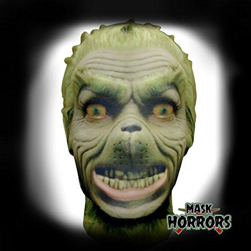 Mask Horrors der Grinch–Weihnachten–Full Head Lycra Morph Stil Maske–Halloween-Kostüm