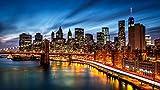 MAIYOUWENG Adulti Puzzle Classici Collection 1000 Pezzi- Paesaggio del Ponte di Brooklyn di New York City -1000 Pezzi di Legno Jigsaw Puzzle