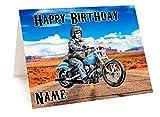 Harley Davidson Motorrad Geburtstagskarte–personalisierbar