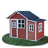 EXIT Loft 150 rotbraun / Spielhäuschen mit Tür + 5 Fenstern / Material: Zedernholz / Maße: 118 x 171 x 160 cm / 77,5 kg / für Kinder ab 3