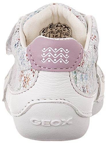 Calzature sportive per ragazza, colore Bianco , marca GEOX, modello Calzature Sportive Per Ragazza GEOX B TUTIM Bianco Bianco