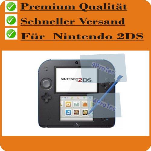 Preisvergleich Produktbild 2x Nintendo 2DS ENTSPIEGELNDE Displayschutzfolie Bildschirmschutzfolie von 4ProTec - (je 1 Folie für beide Displays)