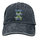 YYERINX Be Kind Mental Health Awareness Denim Hat Adjustable Female Low Baseball Hat