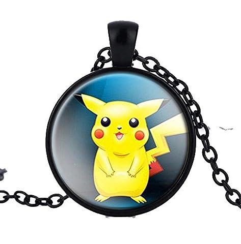 Pokemon pendentif Pikachu verre Cabochon