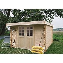 Steiner Shopping Pirum S8349CRO Abri de jardin- Chalet en bois, madrier 28mm, emprise au sol: 5.04m², toit monopan