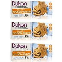 Dukan - Copos de avena con sabor a coco, 3 paquetes de 18 galletas cada