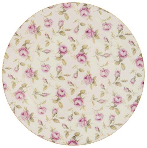 ller klein Kuchenteller Blumen rosa ca. Ø 22 cm ()