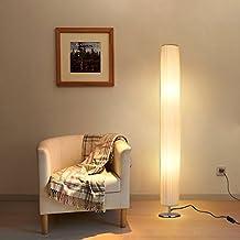 Albrillo Stehlampe Moderne E27 Stehleuchte Mit Tube Lampenschirm Und  Edelstahl Basis, 120cm Standlampe Max.