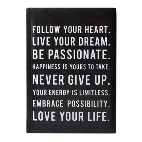 Eccolo Love Your Life Tagebuch, schwarz