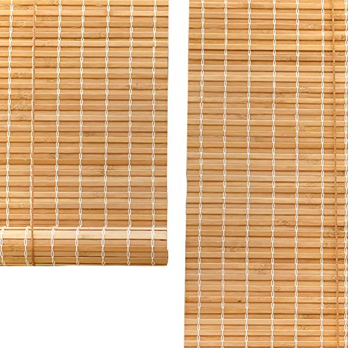 Seitenzug Springrollos Rollos Bambusvorhang, Natürlicher Bambus Roll Up Fenster Jalousien Sonnenschutz, Sonnenschutz Retro Vorhang, 90% Shading Rate (Farbe : Hook up, größe : 50X180cm)