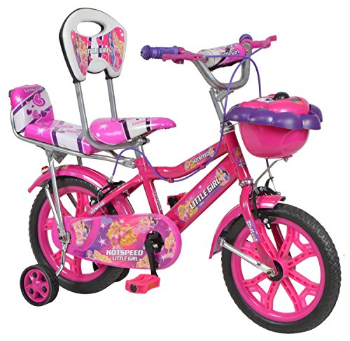 hotspeed hot speed steel kids' bike, 14 inches (pink) Hotspeed Hot Speed Steel Kids' Bike, 14 Inches (Pink) 51fl t4 f4L
