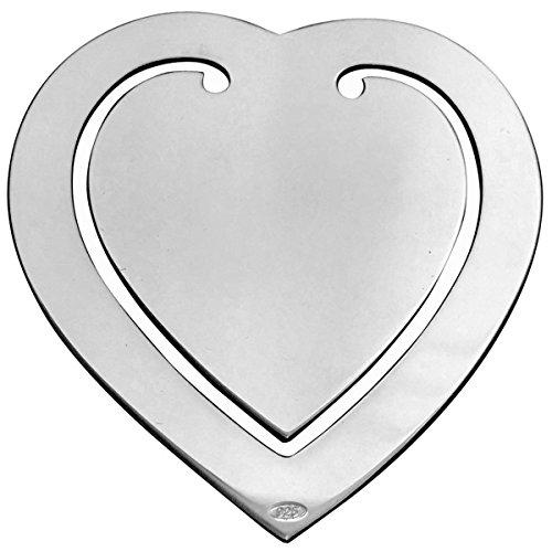 Lesezeichen Geldklammer Herz 6,5x5,5cm Silber 925 Sterling in Top Verarbeitung