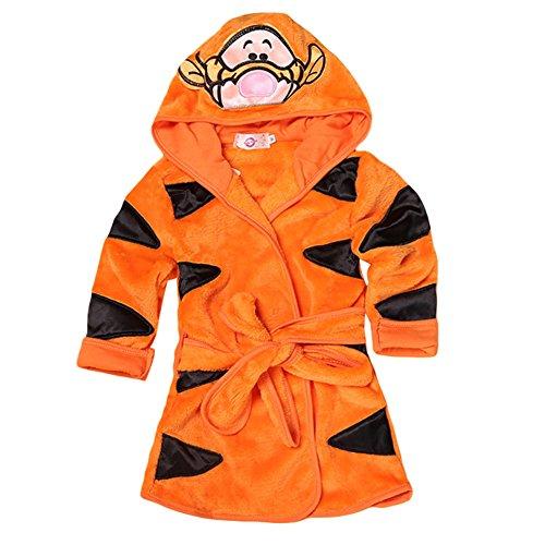 LIUONEXI Baby Jungen Mädchen Cartoon Bademantel Weichkorallen Fleece Infant Kleinkind Muticolored Nachtwäsche Outfit, 130, Tiger