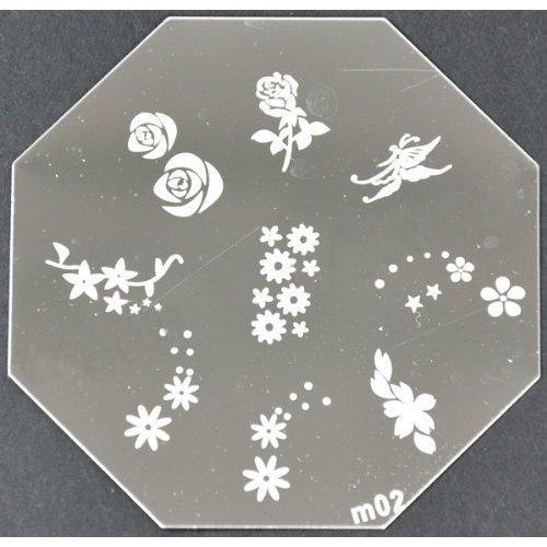 Nail Art emboutissage des tôles - M01 CODE : M02-plaque