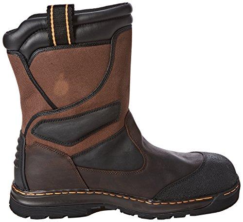 Dr. Martens Turbine St Waterproof Rigger, Chaussures de sécurité homme Noir/Marron (Black/Brown)